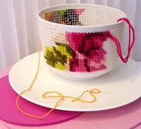 Cross-stitch-tea